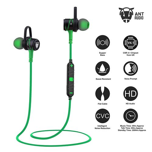 Ant Audio H56 Bluetooth Metal in-Ear Stereo Bass Headphone