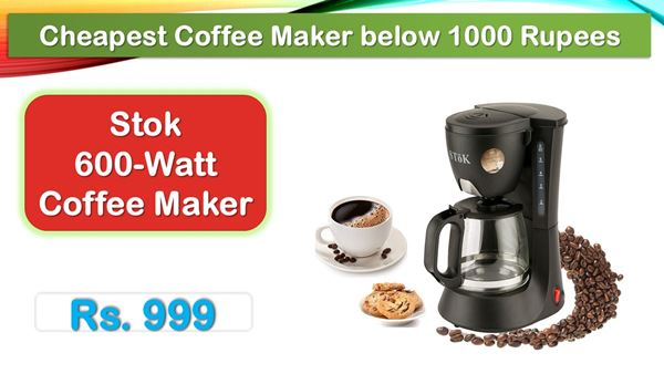 Stok Drip Coffee Maker Machine in 1000 rs