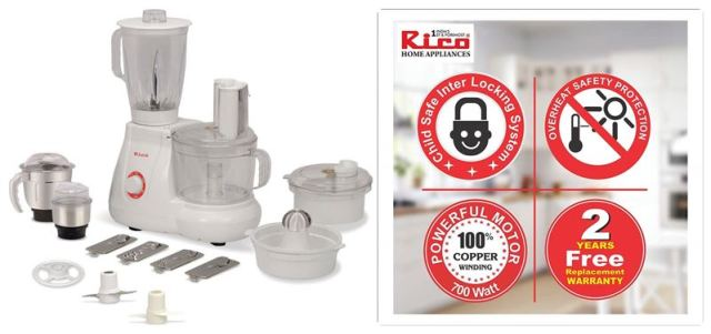 700W Rico Food Processor with Coconut Scrapper and Juicer