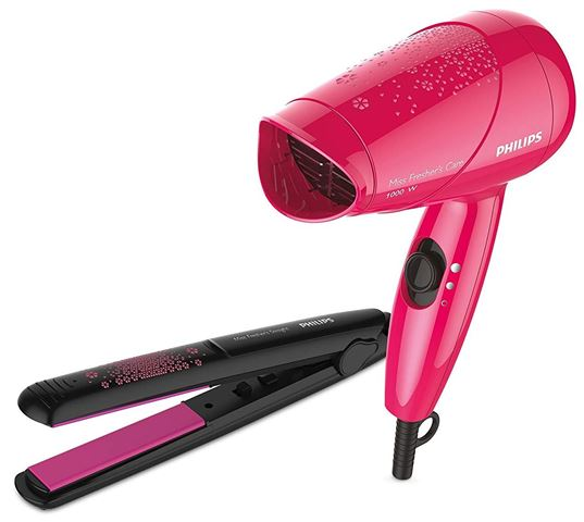 Philips HP8643 Styling Kit with Hair Straightener and Hair Dryer