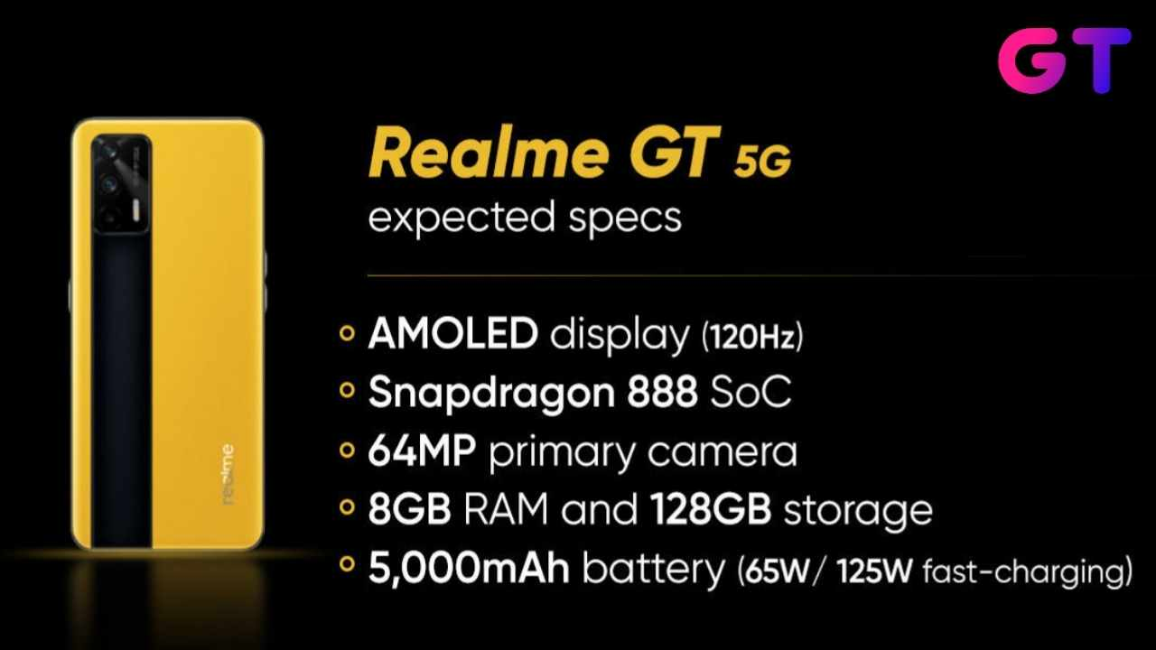 Realme GT 5G Specifications, Realme GT 5G price in india
