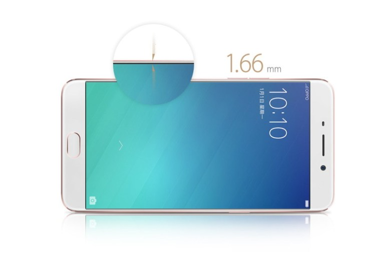 oppo-f1-plus side view