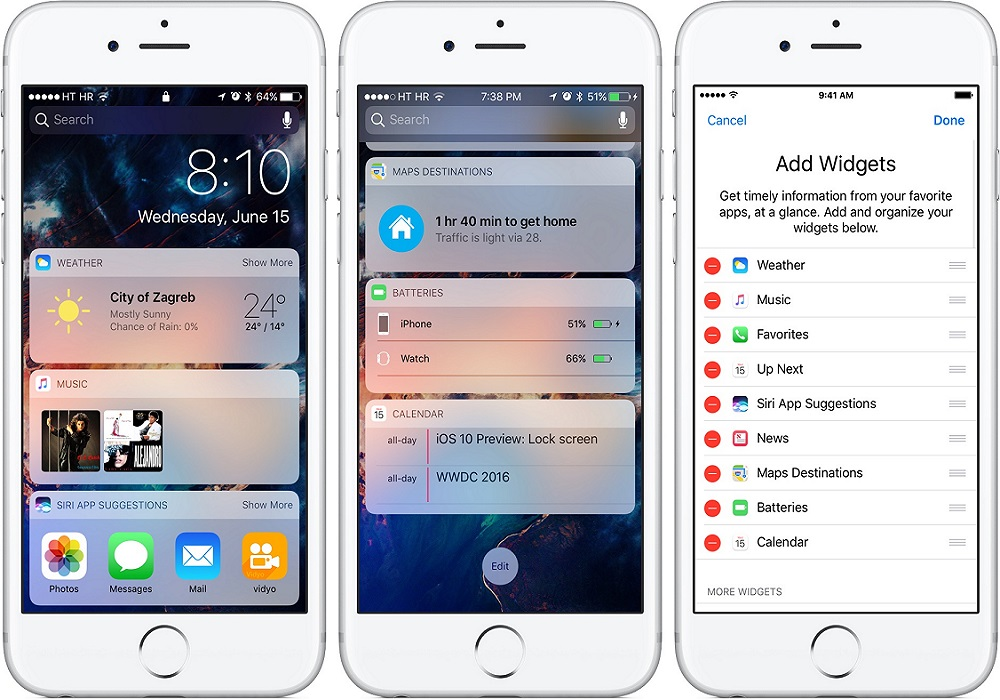 How to easily add/remove Widgets in Apple iOS 10