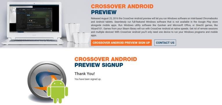 Crossover Android Preview