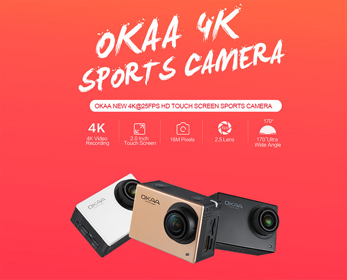OKAA V2 WiFi 4K Action Camera Features