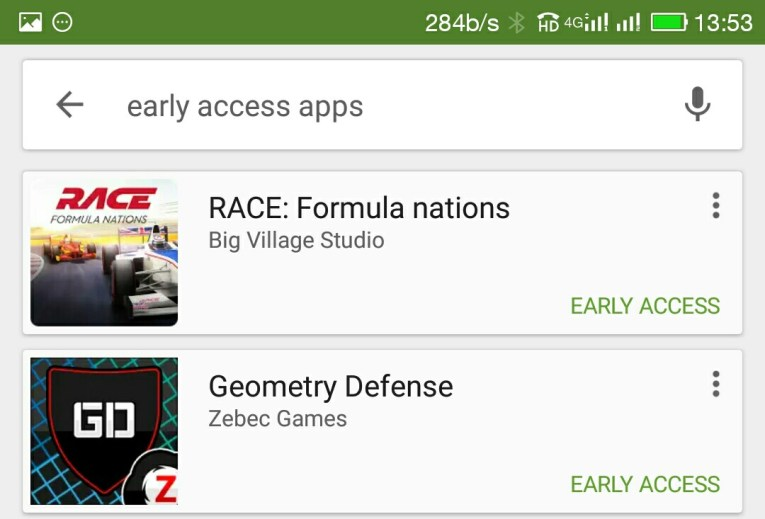 Early Access Apps