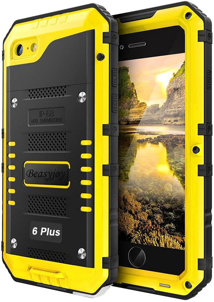 iPhone 6 Plus Case iPhone 6s Plus Metal Case Heavy Duty with Screen Full Body Protective Waterproof