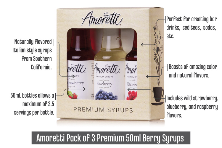 Best Syrup For Snow Cones_AmorettiPack3Premium50mlBerrySyrups