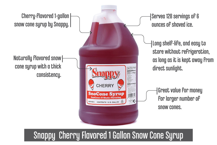 Snappy-CherryFlavored1GallonSnowConeSyrup