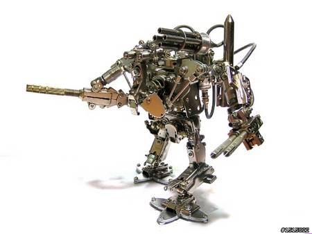 Ultra Cool Handmade Metal Robots All Like Transformers