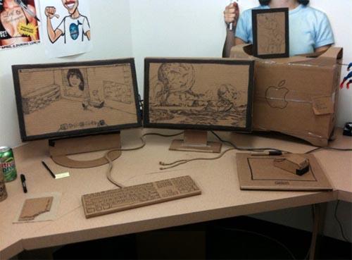 Eco Friendly Cardboard Office Shocked Leif Gadgetsin