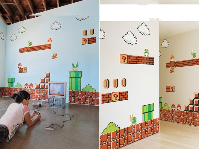 The Nintendo Super Mario Bros Re Stik Wall Decal Icon