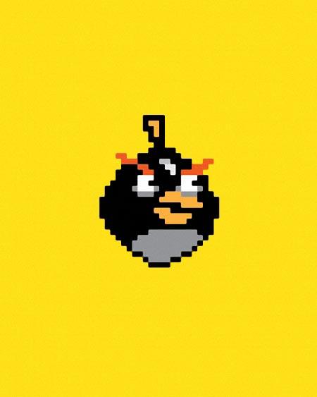 Pixelated Angry Birds Gadgetsin