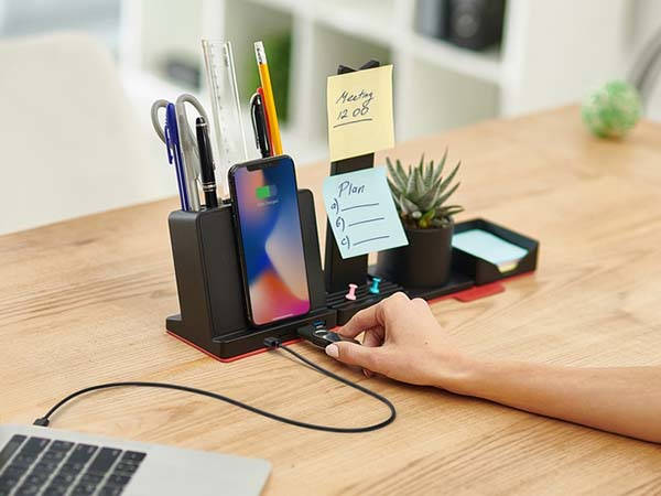 Transformer Wireless Charger With Desk Organizer And Usb C