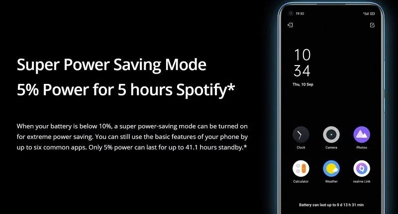 Realme 7i Super Power Saving Mode
