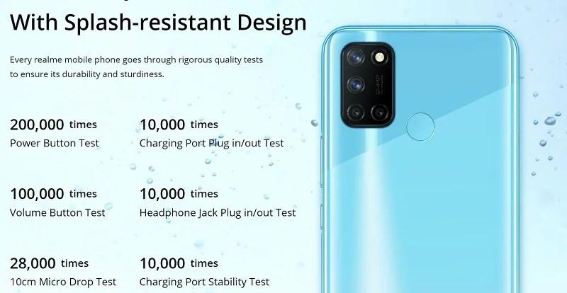 Splash- Resistant Design