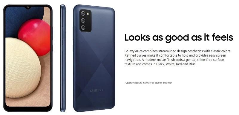 Galaxy A02s Design