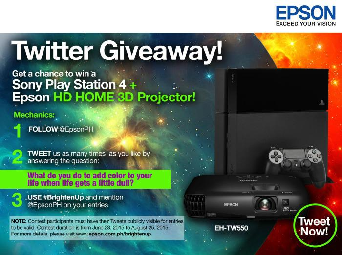 Epson Philippines Corporation is giving away a full HD and 3D home