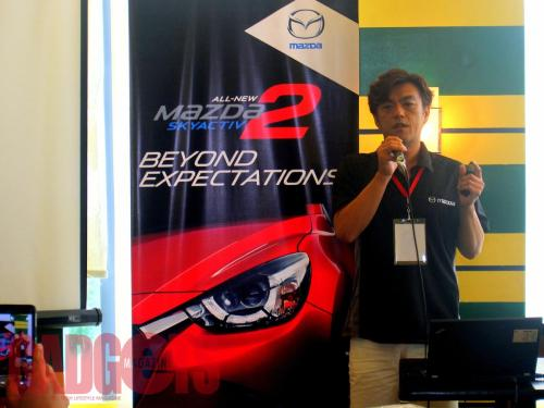 Takeo Moriuchi, deputy program manager of the vehicle development promotion department, Mazda Motor Corporation.