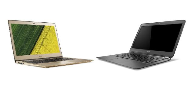Acer Aspire S3 (left) and Acer Aspire S5 (right)