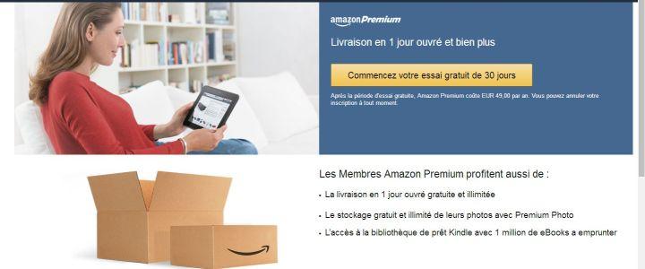 Abonnement Amazon Premium gratuit 30 jours (Comment faire)
