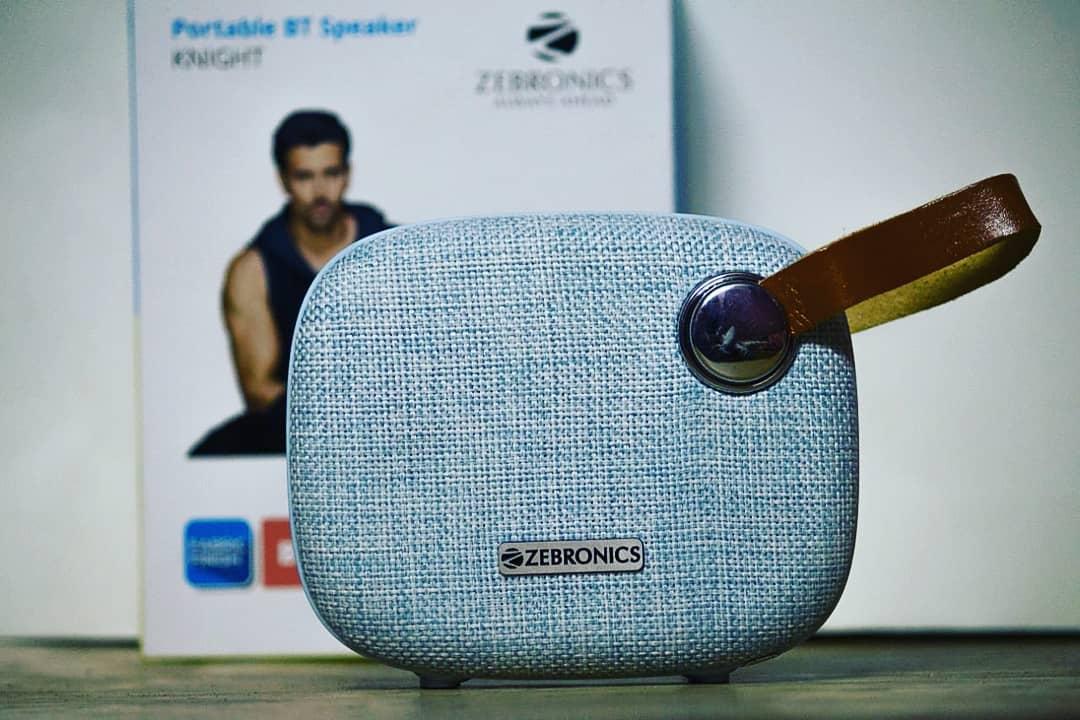 Zebronics Knight Bluetooth Speaker (Best Bluetooth Speaker Under Rs.1500)