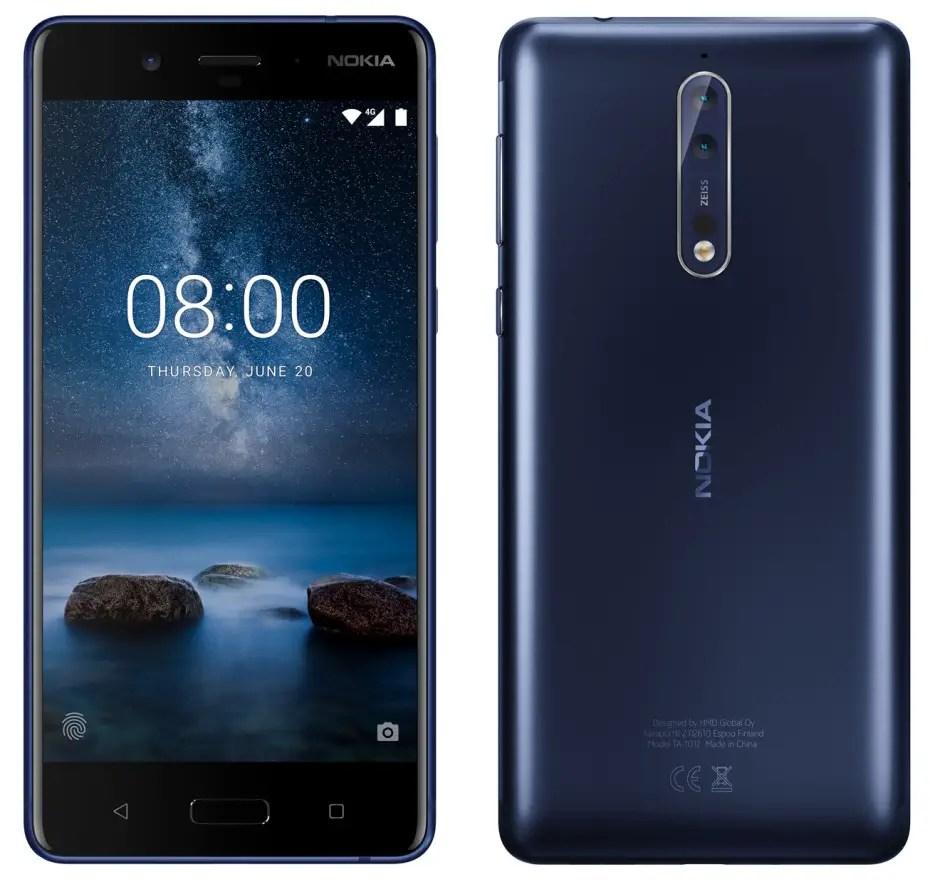 Nokia 8 leaked renders