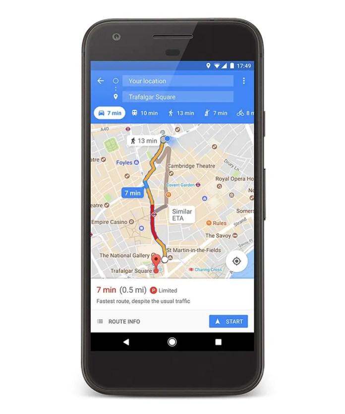 Find Parking using Google Maps