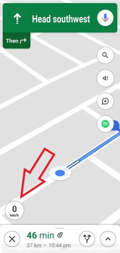 Как включить спидометр в Google Maps на Android