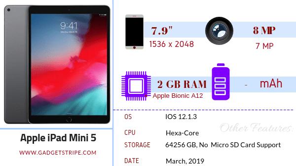 Apple iPad mini 5 specifications