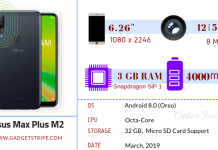 Asus zenfone max plus m2 specifications