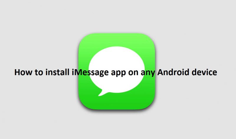 Download and Install iMessage App on Android | GadgetsTwist