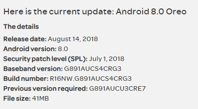 Download July 2018 G891AUCS4CRG3 update for AT&T S7 Active