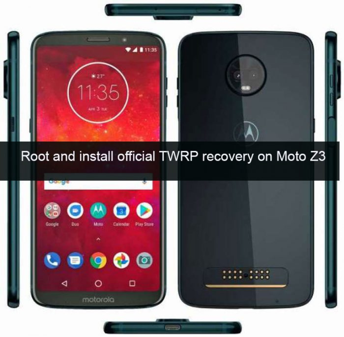 Install official TWRP recovery and Root Moto Z3