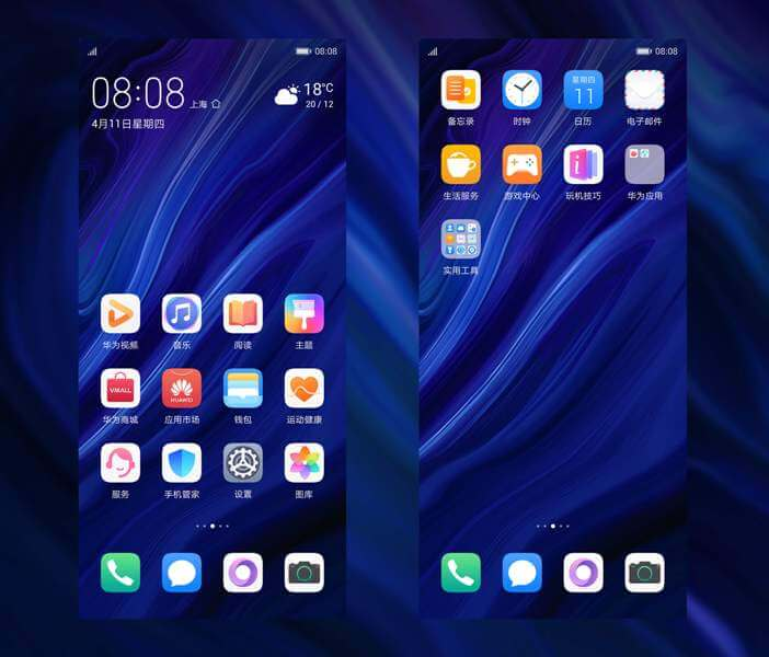 Download Huawei P30 Pro stock themes for all Huawei/honor devices