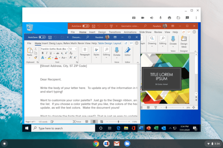 Google brings Windows apps to Chromebooks - via Parallels Desktop