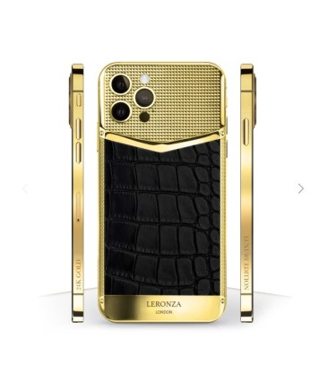 Leronza Introduces iPhone 12 Smartphones With Swarovski Crystals, Diamonds, Exotic Leather And Gold Plating -(2)