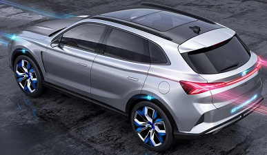The smartest electric car ever.  Roewe Marvel R SUV becomes the first to support 5G V2X features