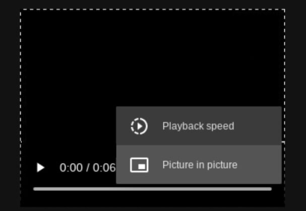 A useful innovation in Google Chrome.  A player for video and music in the browser will allow you to control the playback speed