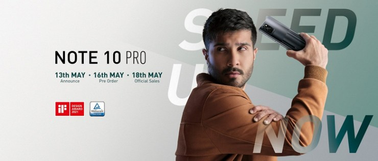 Infinix Note 10 Pro comes out on May 18