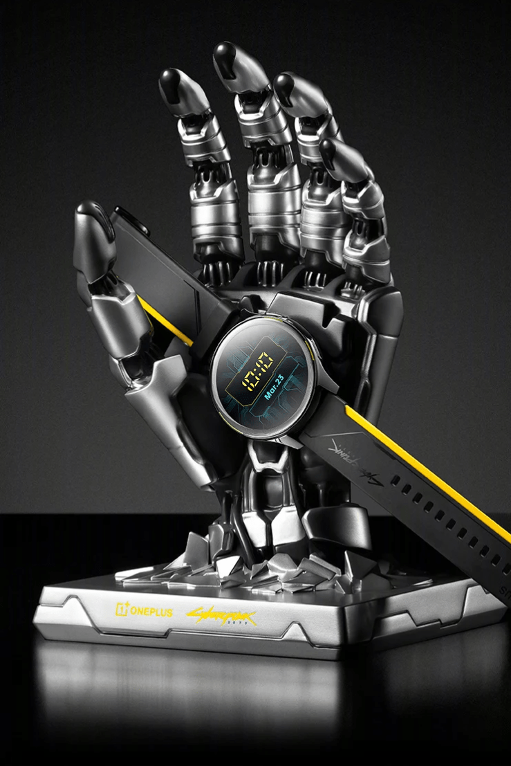 Released OnePlus Watch Cyberpunk 2077 Limited Edition with Johnny Silverhand as stand