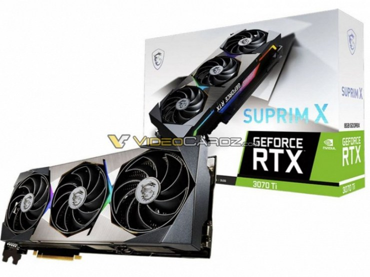 This is what the GeForce RTX 3070 Ti looks like.  Images of two MSI Suprim and Ventus series graphics cards