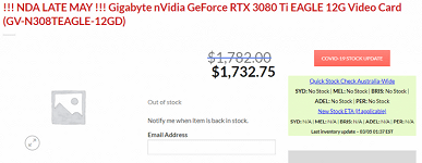 From $ 1,350 to $ 2,250.  The cost of the GeForce RTX 3080 Ti video card has become known