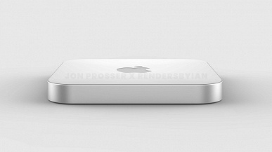 Something like this might look like a powerful Apple Mac mini with a plexiglass lid.  The first renders appeared