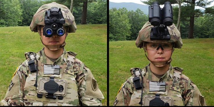 The US Army has shown in the case of new night vision devices