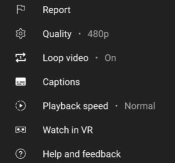 Mobile YouTube has learned to loop video indefinitely