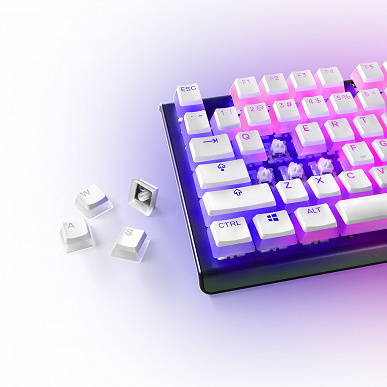 SteelSeries PrismCaps double-layer keycaps available in white and black