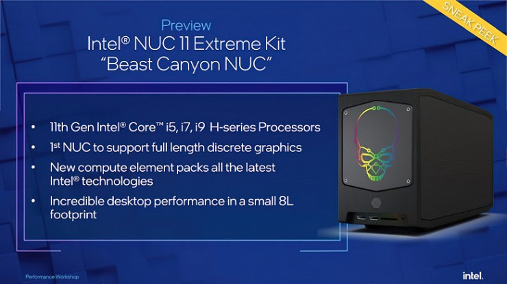 Intel's unexpected 10nm desktop processors will power the NUC 11 Extreme mini gaming PC