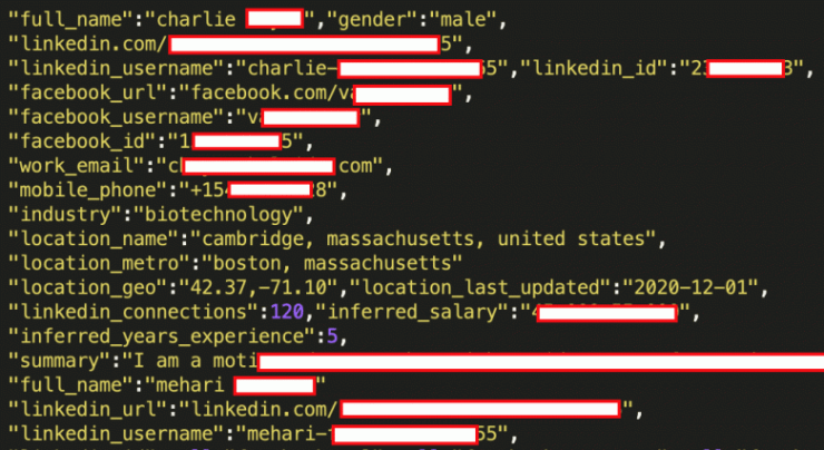 Almost all LinkedIn users are up for sale.  Including phone numbers and physical addresses