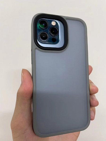 The iPhone 12 Pro has a case from the iPhone 13 Pro.  This is the best example to show how much the camera of the new model has become larger.